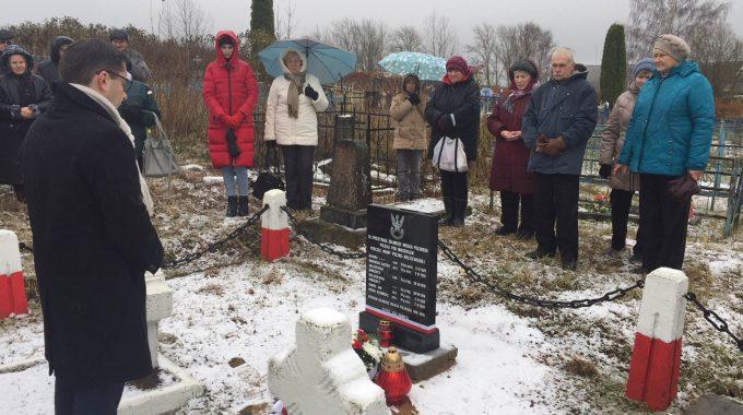 Odsłonięcie Tablicy W Miadziole Na Białorusi