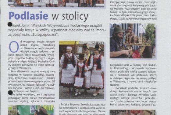 Eurogospodarz O Imprezie Podlaskie Gminy Wiejskie W Warszawie